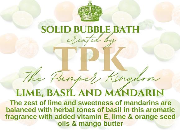 Lime Basil and Mandarin Solid Bubble Bath