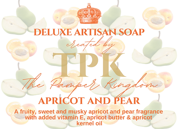 Apricot and Pear Deluxe Artisan Soap