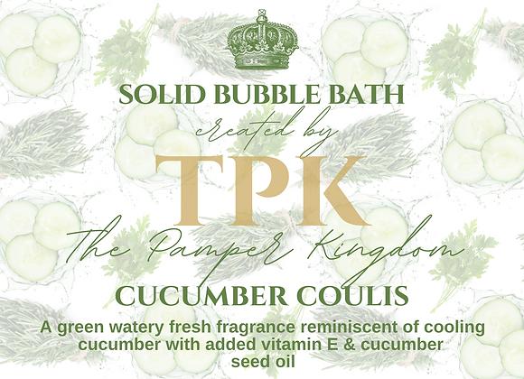 Cucumber Coulis Solid Bubble Bath