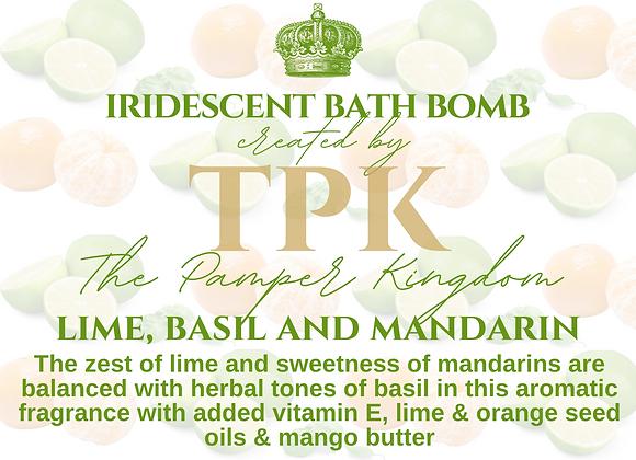 Lime Basil and Mandarin Iridescent Bath Bomb
