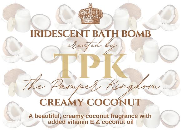 Creamy Coconut Iridescent Bath Bomb