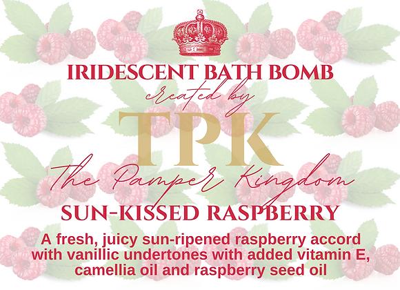 Sun-kissed Raspberry Iridescent Bath Bomb
