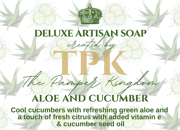 Aloe and Cucumber Deluxe Artisan Soap