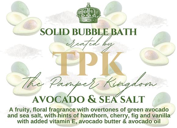 Avocado and Sea Salt Solid Bubble Bath