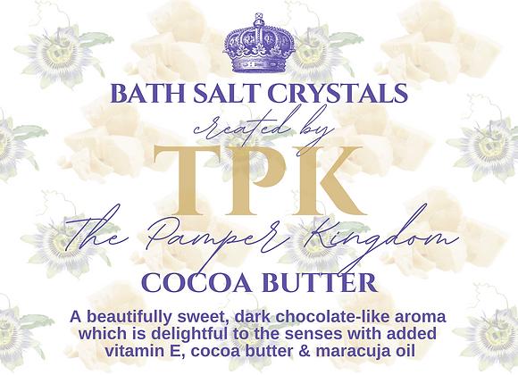 Cocoa Butter Bath Salt Crystals