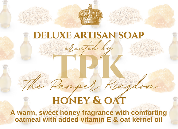 Honey and Oat Deluxe Artisan Soap
