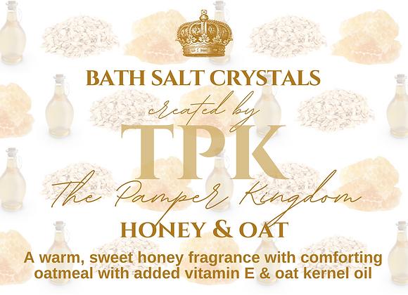 Honey and Oat Bath Salt Crystals