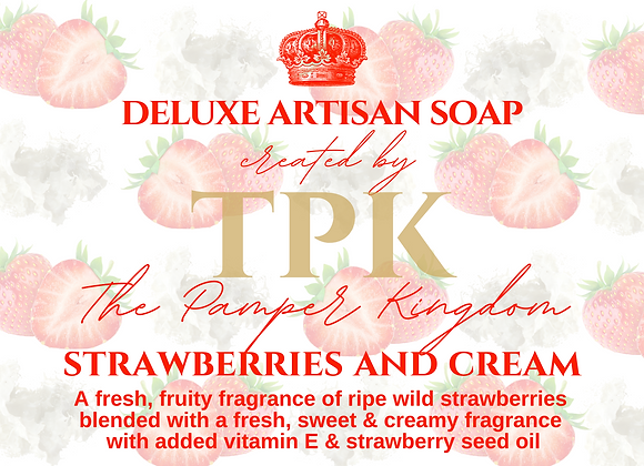Strawberries and Cream Deluxe Artisan Soap