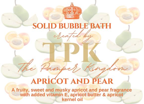 Apricot and Pear Solid Bubble Bath