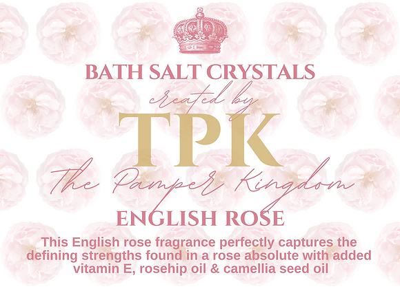 English Rose Bath Salt Crystals