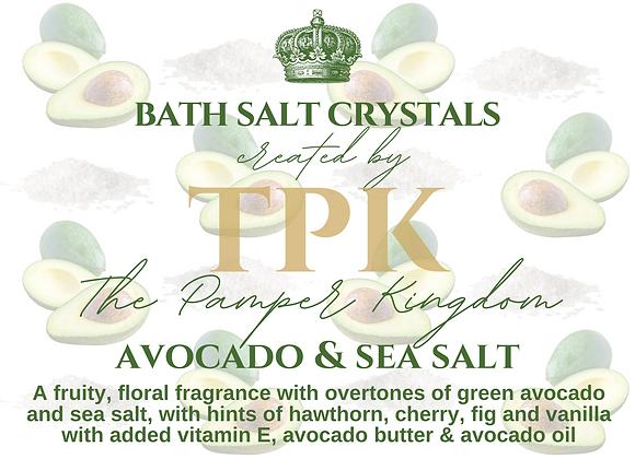 Avocado and Sea Salt Bath Salt Crystals