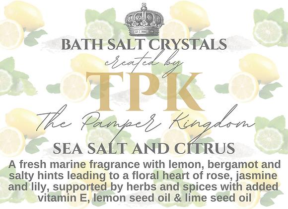 Sea Salt and Citrus Bath Salt Crystals