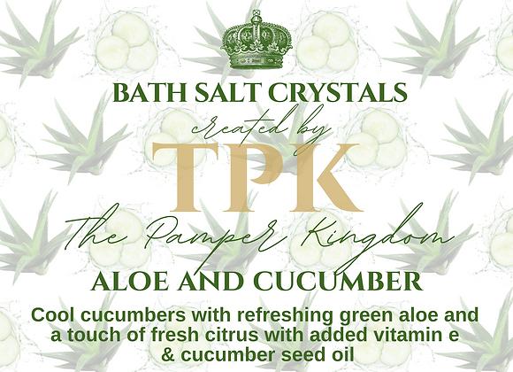 Aloe and Cucumber Bath Salt Crystals