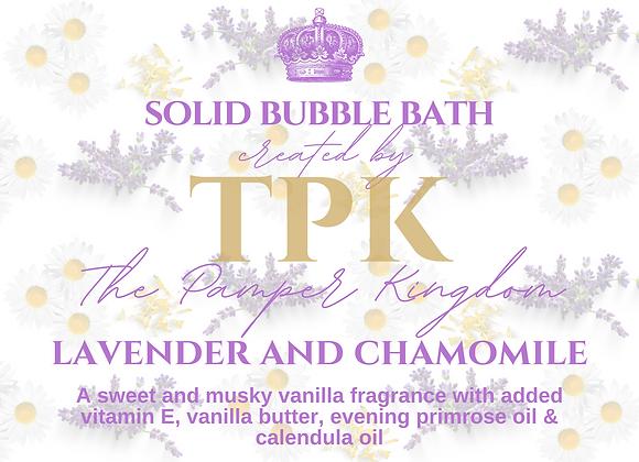 Lavender, Chamomile and Calendula Solid Bubble Bath