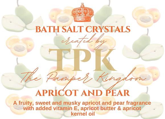 Apricot and Pear Bath Salt Crystals