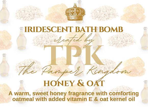 Honey and Oat Iridescent Bath Bomb