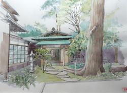 017_清閑亭(神奈川・小田原市)-2012/水彩F6