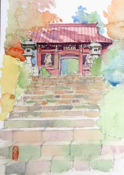 002_道了尊仁王門(神奈川・南足柄市)-2006/水彩SM