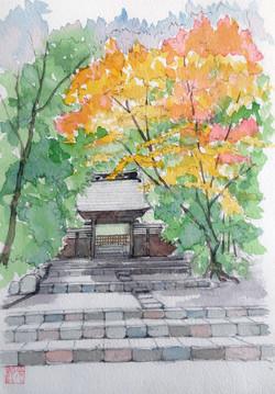 018_早雲寺惣門(神奈川・箱根町)-2012/水彩SM