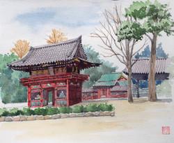 015_根津神社(東京・文京区)-2011/水彩F2