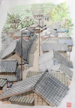 004_宇津の谷(静岡・藤枝市岡部町)-2007/水彩F4