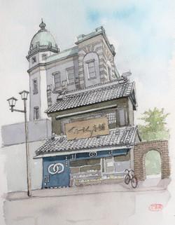 014_くらづくり本舗(埼玉・川越市)-2010/水彩F4