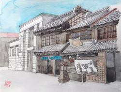 035_佐原の街(千葉・佐原市)-2015/水彩F2