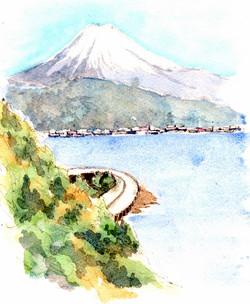 さった峠からの富士山s