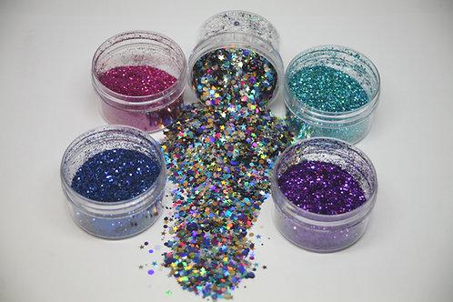 Galaxy Glitter Set, 5-0.5 oz Jars