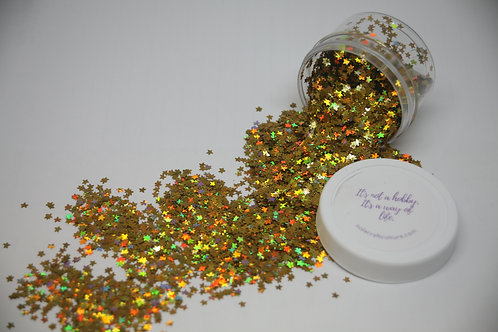 Holographic Gold Starfish Confetti, 0.5 oz