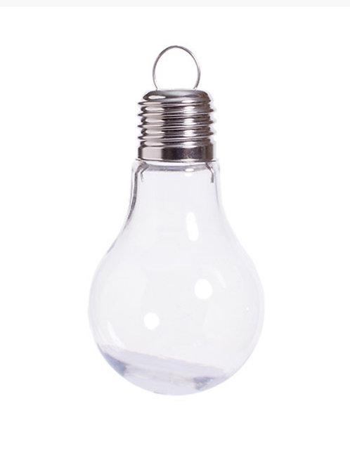 "Light Bulb Ornament, 4"" plastic"