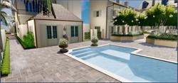 Pool and hospitality room