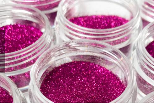 Fuchsia Cosmetic Microfine Glitter, .8 oz