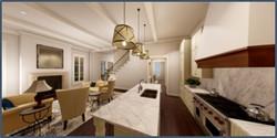 1220 Dauphine A B kitchen living