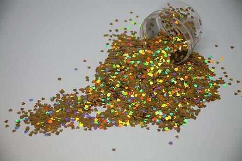 Gold Heart Confetti, 0.5oz