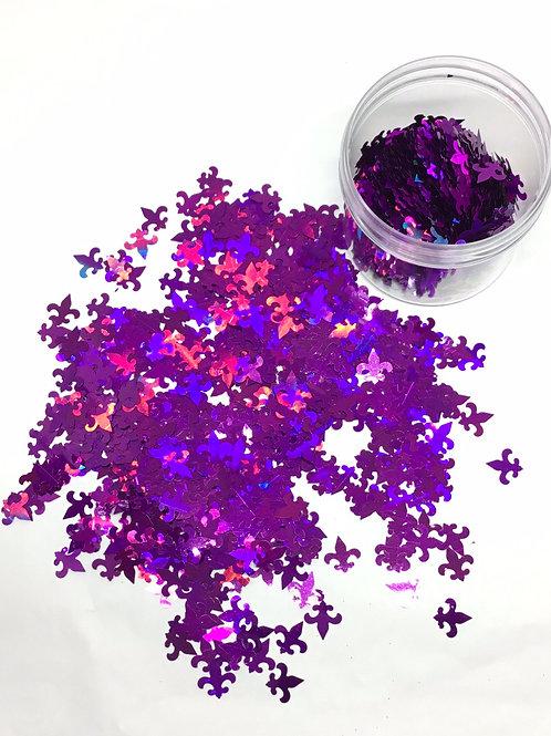 0.5 oz Purple Fleur de Lis