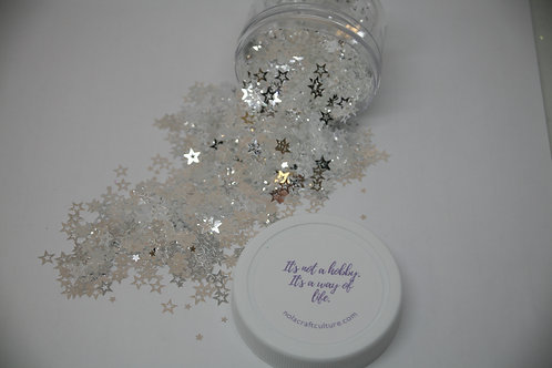 .5 oz Jar, Starlight Express (Silver Hollow Stars)