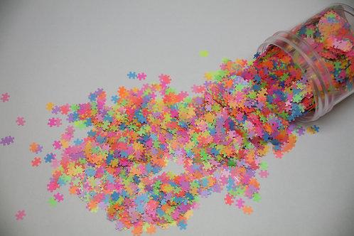 0.5 oz Neon Puzzle Piece Shape