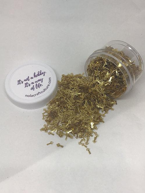 Golden Key Confetti, 0.5 oz jar