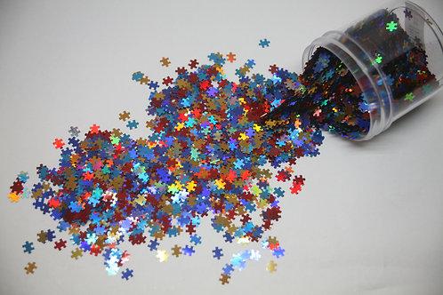 0.5 oz Primary Puzzle Piece Shape