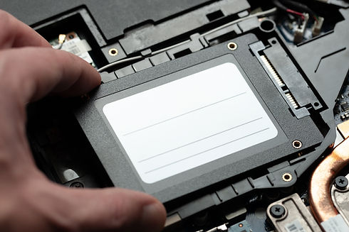 installing new solid-state drive to lapt
