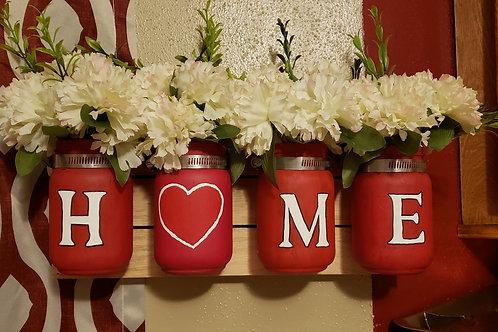 Lit Mason Jar Home Decore