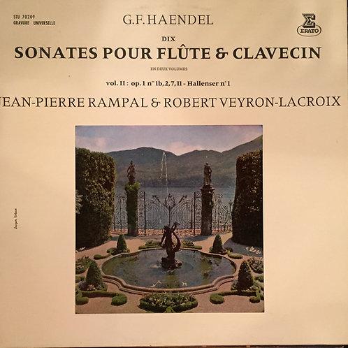 Haendel - Jean-Pierre Rampal, Robert Veyron-Lacroix – Dix Sonates Pour Flûte