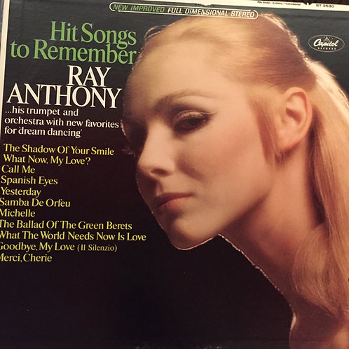 Ray Anthony ‎– Hit Songs To Remember
