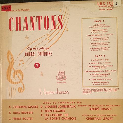 Compilation – Chantons