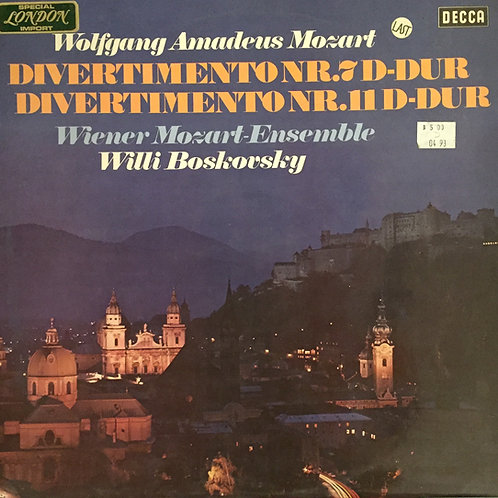 Vienna Mozart Ensemble, Mozart, Willi Boskovsky – Serenades Volume 8