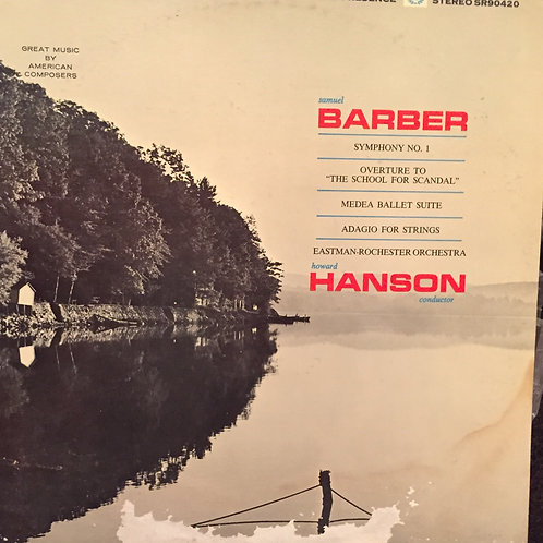 Barber, Howard Hanson, Eastman-Rochester Orchestra ‎– Symphony No.1
