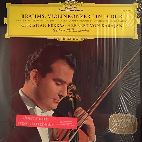 Brahms, Ferras,Karajan, Berliner Philharmoniker – Konzert Für Violine