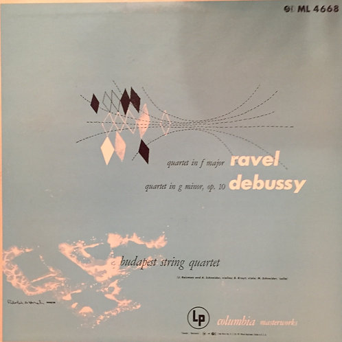 Ravel/Debussy, Budapest String Quartet ‎– Quartet In F Major / Quartet In G min