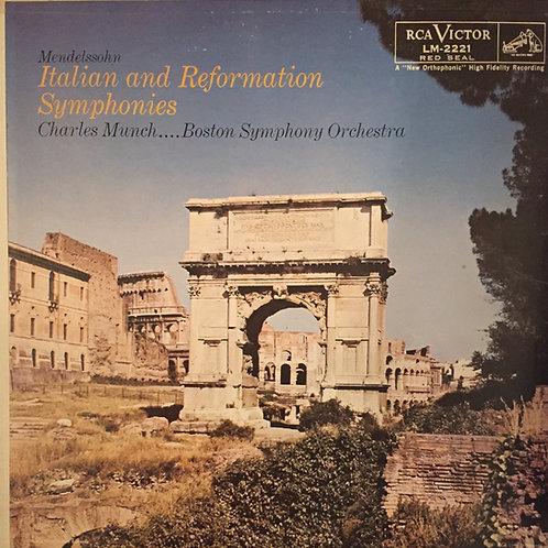 Mendelsohn, Charles Munch, ...Boston SO – Italian And Reformation Symphonies